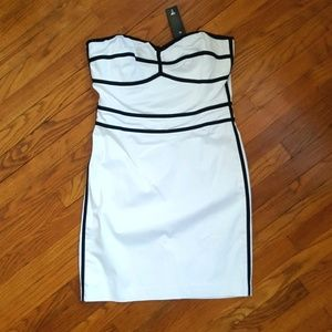 NEW bodycon dress strapless white/black